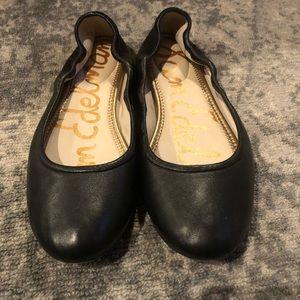 Sam Edelman Black Leather Fritz Ballet Flats, 10